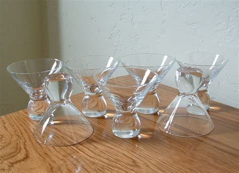 vintage cocktail set vintage glasses stemless cocktail set of 7 mid century