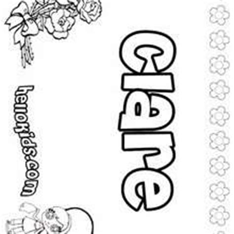coloring pages of the name claire christmarie coloring pages hellokids com