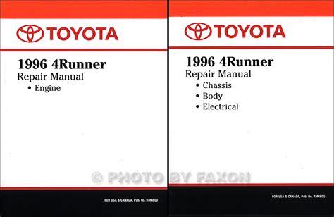auto manual repair 1996 toyota 4runner engine control 1996 2002 toyota 4runner body collision repair shop manual original