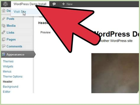 change header layout wordpress how to change the header in a wordpress blog 6 steps