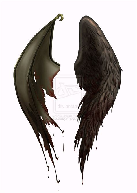 devil angel tattoo designs half half tattoos wings