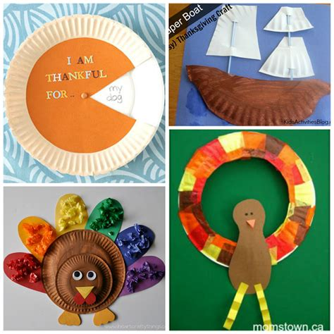 Thanksgiving Paper Plate Crafts - thanksgiving paper plate crafts for crafty morning
