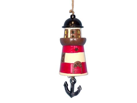 Wholesale Nautical Decor Suppliers by Buy Ceramic Lighthouse Tower Bell 8 Inch Wholesale