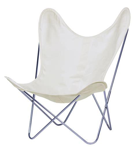 fauteuils aa fauteuil aa butterfly toile structure chrom 233 e structure chrom 233 e toile 233 cru aa new design