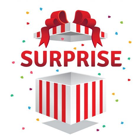 opened surprise gift box vector free download