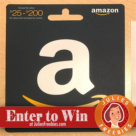 Amazon Gift Card For Less - win an amazon gift card julie s freebies