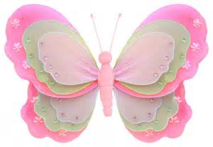 Butterfly Decorations For Home Butterfly Decorations Large Pink Green Pink Hanging Layered Butterfl Contemporary