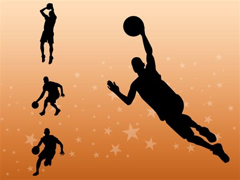 Basketball Players PPT Backgrounds   Sports Templates