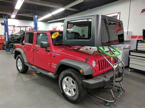jeep hardtop removal toplift pros simple jeep hardtop removal and storage