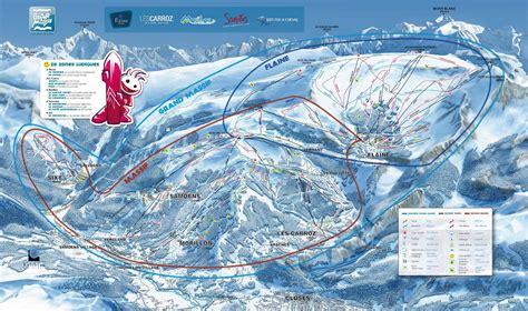Les Carroz Plan des pistes de ski Les Carroz