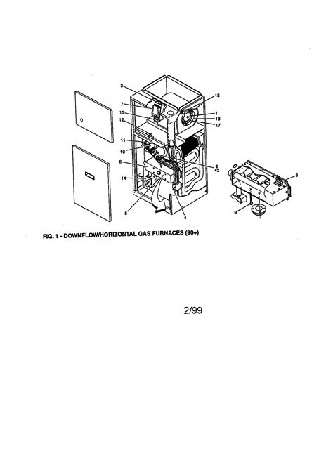 york furnace parts diagram york downflow gas furnace parts model p3dhb12n05501