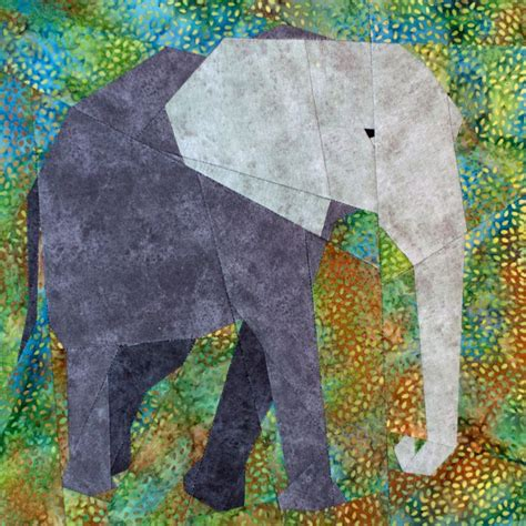 Elephant Quilt Patterns by Elephant Paper Piecing Quilt Pattern Pdf