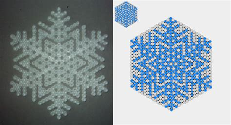 snowflake bead pattern snowflake perler pattern 3 by yurai yukimura on deviantart