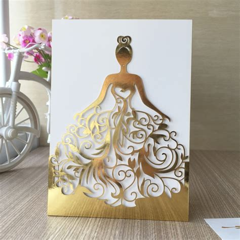 sle of wedding invitation card sale wedding dress card metallic gold paper made of shinny silver card paper for business