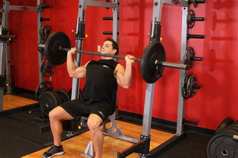 bench press for shoulders barbell shoulder press exercise guide and video