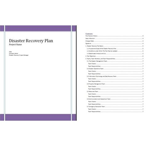free disaster recovery plan template free disaster recovery plan template for project managers