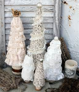 styrofoam tree craft lace tree forest craft tutorial mitzi s miscellany