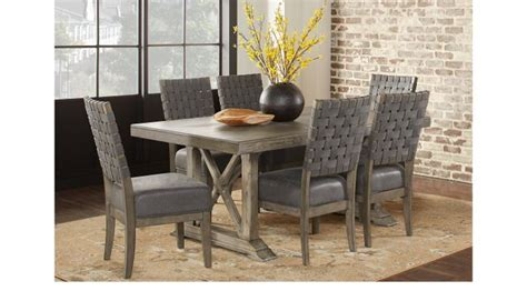 bristow charcoal dark gray  pc rectangle dining room