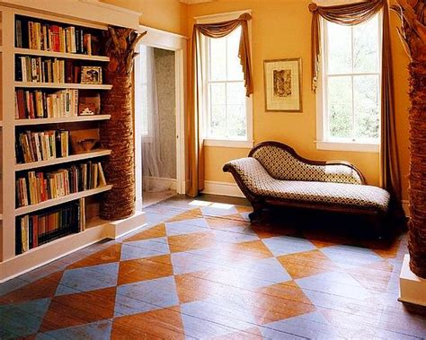 how to paint the wood floor in two colours how to build a house