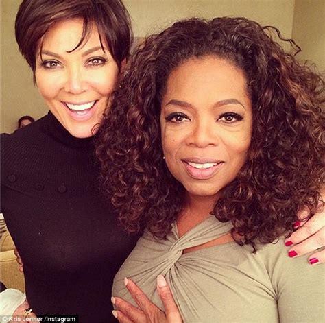 oprah winfrey on instagram kris jenner cuddles up to oprah winfrey for a photo