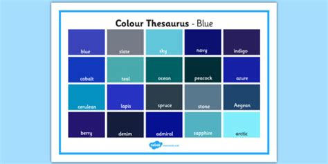 color thesaurus colour thesaurus word mat blue colour thesaurus colour
