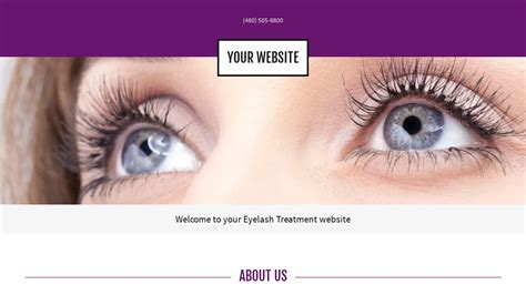 Eyelash Treatment Website Templates Godaddy Eyelash Website Templates