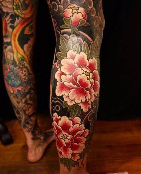 tattoo oriental com flores 50 inspira 231 245 es fant 225 sticas de tatuagem masculina na perna