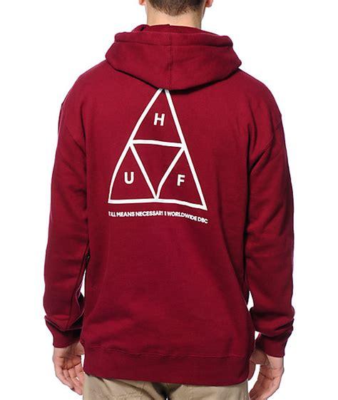 Sweater Hoodies As Roma Maroon huf triangle maroon pullover hoodie zumiez