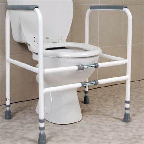 bathroom aids for seniors width adjustable economy toilet frame toilet frames
