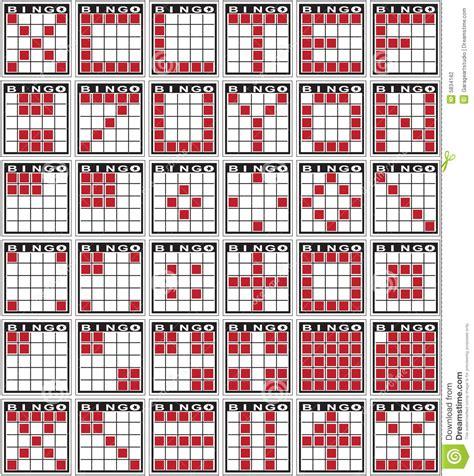 pattern bingo games bingo patterns stock vector illustration of markers