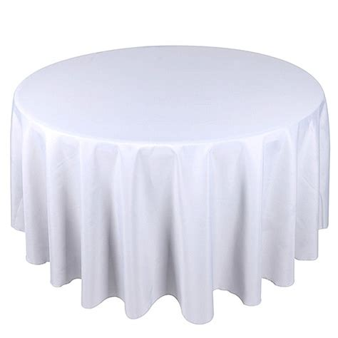 108 tablecloth on 60 table 108 tablecloth white polyester tablecloth your