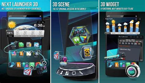 next 3d launcher apk next launcher 3d shell 3 22 apk for android