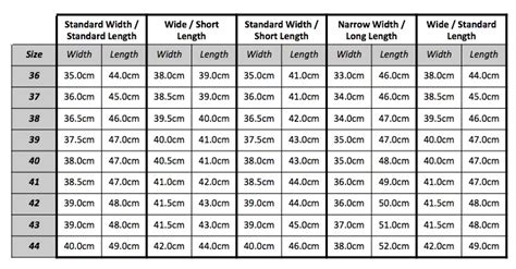 shoe size chart different countries hkm spain leather riding boots standard width short length