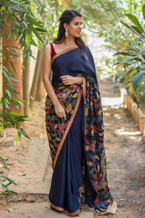 Patchwork Sarees - we can never get enough of kalamkari patch works this