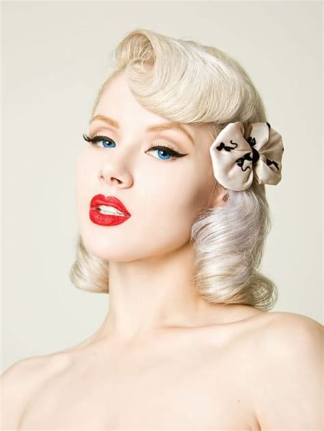 cute hairstyles vintage cute pinup hairstyle short to mid length pinup
