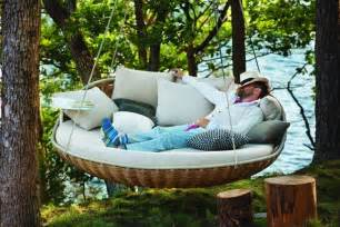 Backyard Collections Patio Furniture Outdoor Indoor Extra Large Luxury Hanging Rattan Day Bed