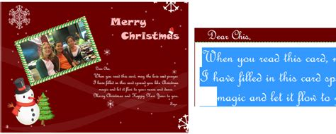 easy   christmas card maker  editor