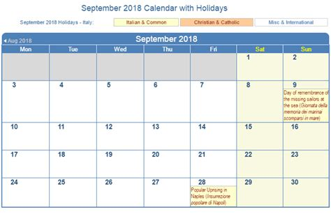 September 2018 Calendar With Holidays Calendar Template Excel Excel Calendar Template 2018 With Holidays