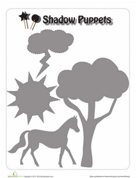 free shadow puppet templates shadow puppet worksheet education