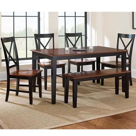 casual dining sets with bench kingston 6 piece casual dining table bench side chair