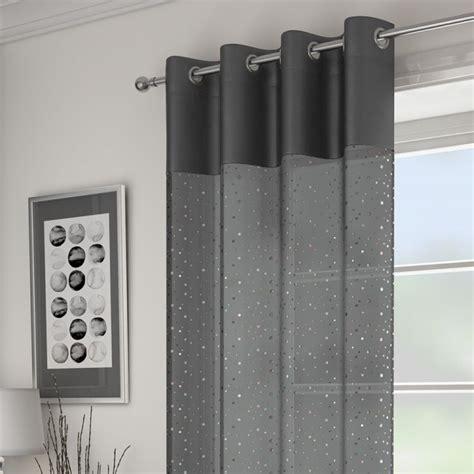 sparkle curtain grey sparkle glitz voile panel tonys textiles