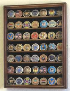 Coin Display Cabinet Design Xs Challenge Coin Display Rack Cabinet Ebay