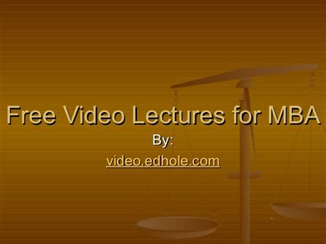 Get An Mba For Free by Free Lectures For Mba