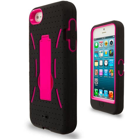Softcase Gambar Iphone 5g color hybrid heavy duty soft cover with stand for apple iphone 5 5g ebay
