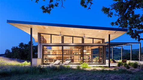 modern ranch caterpillar house sustainable leed certified