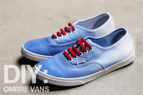 diy vans shoes diy ombre vans swell