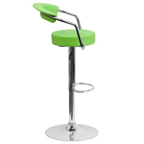 green bar stools with arms contemporary green vinyl adjustable height barstool with