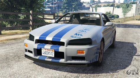 nissan gtr gta 5 nissan skyline r34 gt r 2002 fast and furious for gta 5