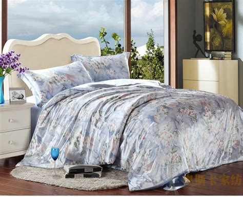 how big is a twin comforter blue floral luxury silk satin bedding comforter set for
