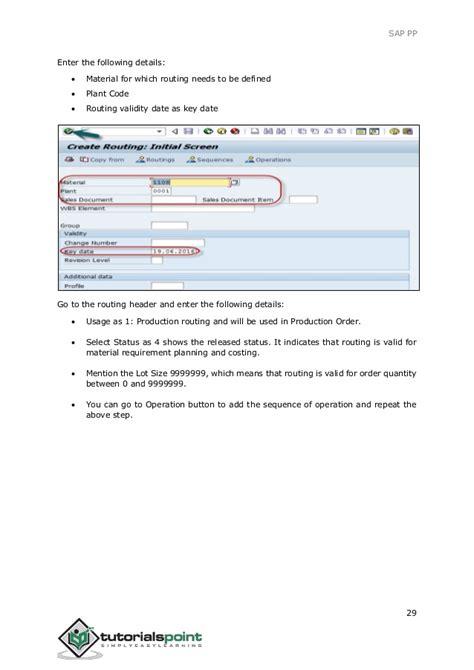 sap routing tutorial sap pp tutorial